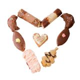 Heart shape made of cookies Royalty Free Stock Photo
