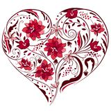 Heart shape made of flowers Royalty Free Stock Photography
