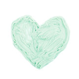 Heart shape made of frosting cream Royalty Free Stock Photo