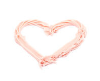 Heart shape made of frosting cream Royalty Free Stock Photos