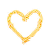 Heart shape made of frosting cream Royalty Free Stock Photography