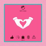 Heart shape made with hands. Graphic element for your design Royalty Free Stock Photos