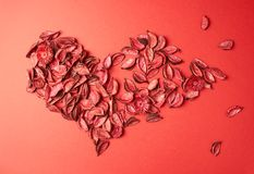 Heart shape made of medley potpourri Stock Image