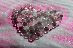 Heart. Shape made out of glass marbles Stock Photo