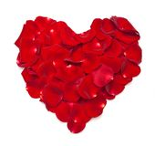 Heart shape made out of rose Royalty Free Stock Photography