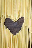 Heart shape made of pasta Royalty Free Stock Images