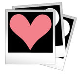 Heart shape made from photo frames, insert your photos vector Royalty Free Stock Photography