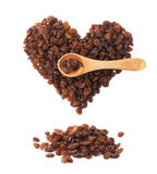 Heart shape made of raisins Stock Images
