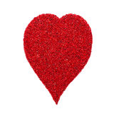 Heart shape made of red gravel Royalty Free Stock Photography