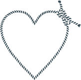 Heart shape made with rope Royalty Free Stock Photos