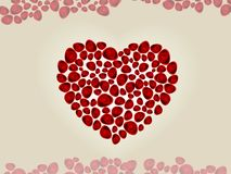 Heart shape made with roses Stock Image