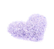 Heart shape made of salt crystals Stock Photography