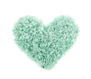 Heart shape made of salt crystals Stock Photos