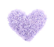 Heart shape made of salt crystals Royalty Free Stock Image
