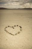 Heart shape made with stone Royalty Free Stock Image