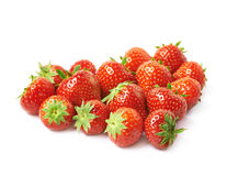 Heart shape made of strawberries royalty free stock photography