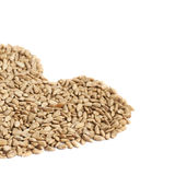 Heart shape made of sunflower seeds Royalty Free Stock Images