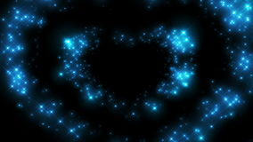 Heart Shape made of Twinkling Stars Beating. Beautiful looped 3d animation. HD 1080 stock video