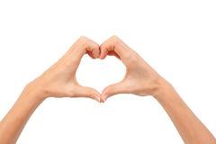 Heart shape made by two hands Royalty Free Stock Photos