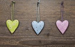 Heart Shape Made on Wood Royalty Free Stock Image