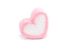 Heart shape marshmallow with on background. Sweet heart shape marshmallow with on background stock images