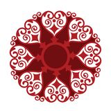 Heart shape medallion. Orgnic stylized heart medallion in red colors Royalty Free Stock Photo