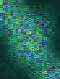 Heart shape mosaic in green spectrum Royalty Free Stock Photo