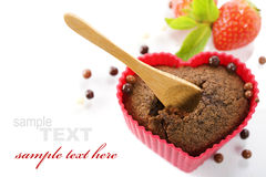 Heart Shape Muffin Stock Images