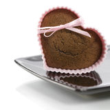 Heart shape muffin Royalty Free Stock Photography