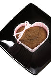Heart shape muffin Stock Photos