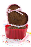Heart shape muffins Stock Image