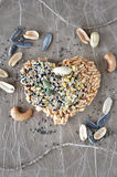 Heart shape multi seeds cracker Stock Photography