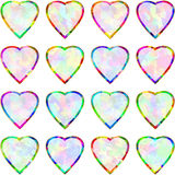 Heart Shape Multicolor Frame Pendant Abstract Symbol Icon Set Stock Photography