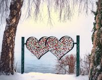 Heart-shape Multicolored Stand Royalty Free Stock Image