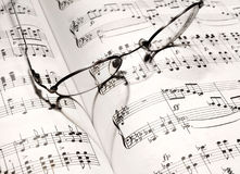 Heart shape on a music book Royalty Free Stock Images