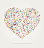 Heart shape music color Royalty Free Stock Photo