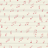 Heart shape musician notes. Seamless pattern Royalty Free Stock Images
