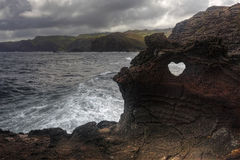 Heart shape at Nakalele in Hawaii Royalty Free Stock Photo