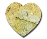 Heart shape natural stone - symbol Royalty Free Stock Photo