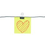 Heart shape on note paper Royalty Free Stock Photo