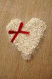 Heart Shape Oatmeal Stock Photography