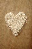 Heart Shape Oatmeal Stock Photo