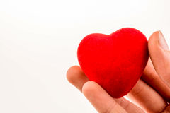 heart shape object in hand Royalty Free Stock Photos