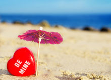 Heart shape by the ocean Stock Photography