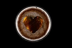 Free Heart Shape On Foam In Glass Of Beer Stock Images - 157568344