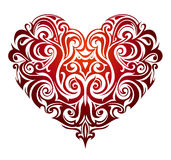 Heart shape ornament Stock Images