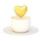 Heart shape over cup of coffee Royalty Free Stock Image