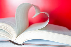 Heart shape with pages of book Stock Photography