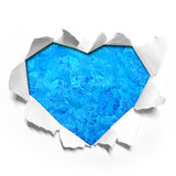 Heart shape paper Royalty Free Stock Photography