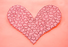 The Heart shape paper Stock Photos